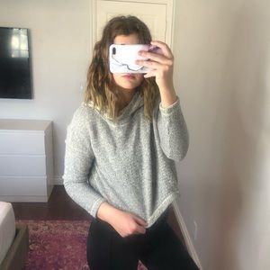 Eileen Fisher Boxy Cropped Hoodie Sweatshirt